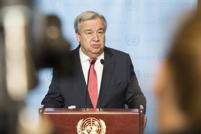 VN Generalsekretär António Guterres; UN Photo by [Rick Bajornas]