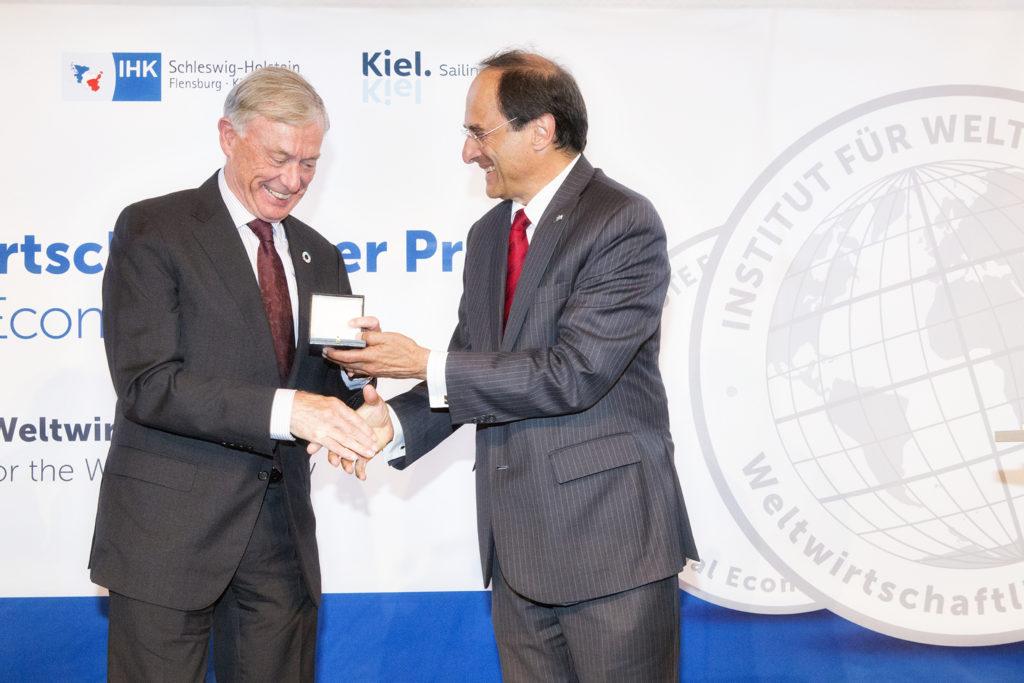 Bundespräsident a.D. Köhler erhält Weltwirtschaftlichen Preis des Instituts für Weltwirtschaft Kiel, Juni 2017