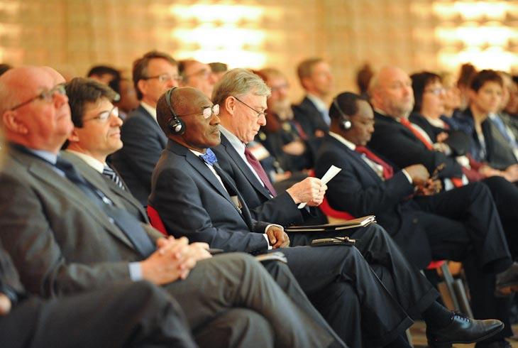 Auf der Abschlussveranstaltung der Afrika-Tage des Bundesministeriums für Bildung und Forschung, Berlin, März 2014 (Quelle: BMBF, Jessica Wahl / Wahluniversum).