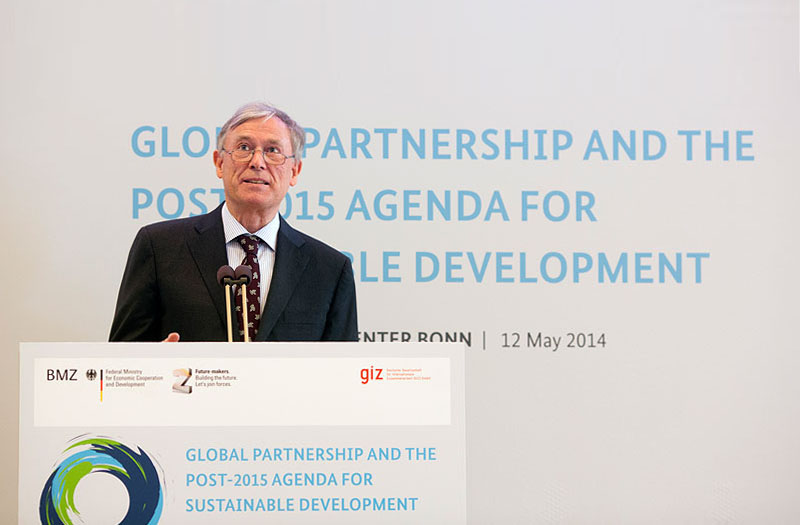 Rede Horst Köhlers zur globalen Partnerschaft und der post-2015 Agenda für Nachhaltige Entwicklung, Bonn, Mai 2014 (@GIZ / Ute Grabowsky/photothek.net).