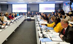 Erstes Treffen des High-Level Panel of Eminent Persons on the Post-2015 Agenda am VN-Sitz in New York, Juli 2012